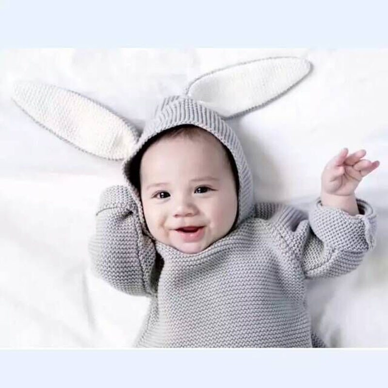 2e1ce9f96 17 Spring New Baby Boys Sweaters 3D Rabbit Cotton Pullover Kids ...