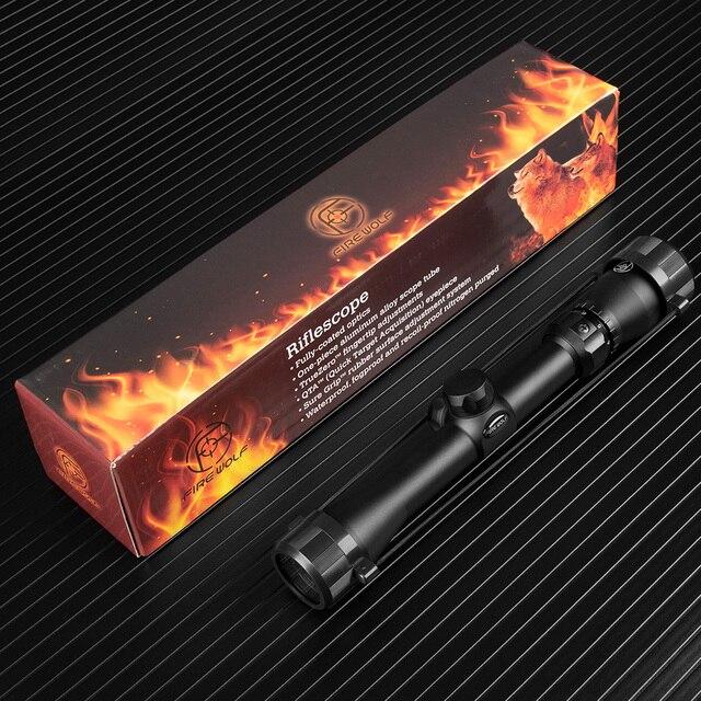 Fire Wolf 3-9X32 Green Glass Rifle Scope Outdoor Reticle Sight Optics Sniper Deer Tactical Best Telescope Riflescope Hunting 6