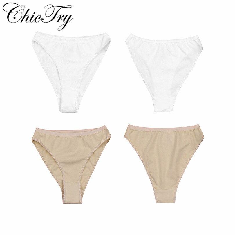 ChicTry 2-12Y Children Kids Ballet Dance Underwear Girls High Leg Cut Briefs Triangle Panties Underpants Ballet Dance Gymnastics