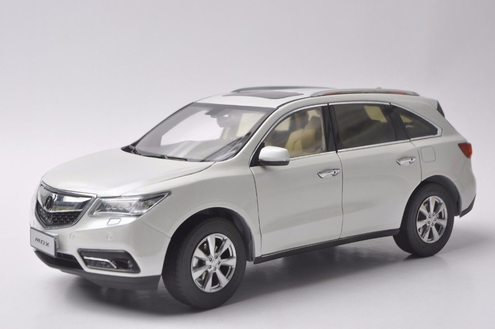 1:18 Diecast Model for Acura MDX 2016 White Luxury SUV Alloy Toy Car Miniature Collection Gifts white 1 18 scale lexus rx200t rx 200t suv luxury collection diecast model car aluminum