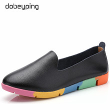 dobeyping New Autumn Women Shoes Genuine Leather Shoes Woman