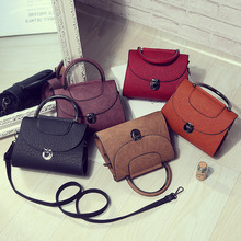 2017 Vintage small women's handbag Elegant Europe and America style mini purse 5 colors pattern print small shoulder bag