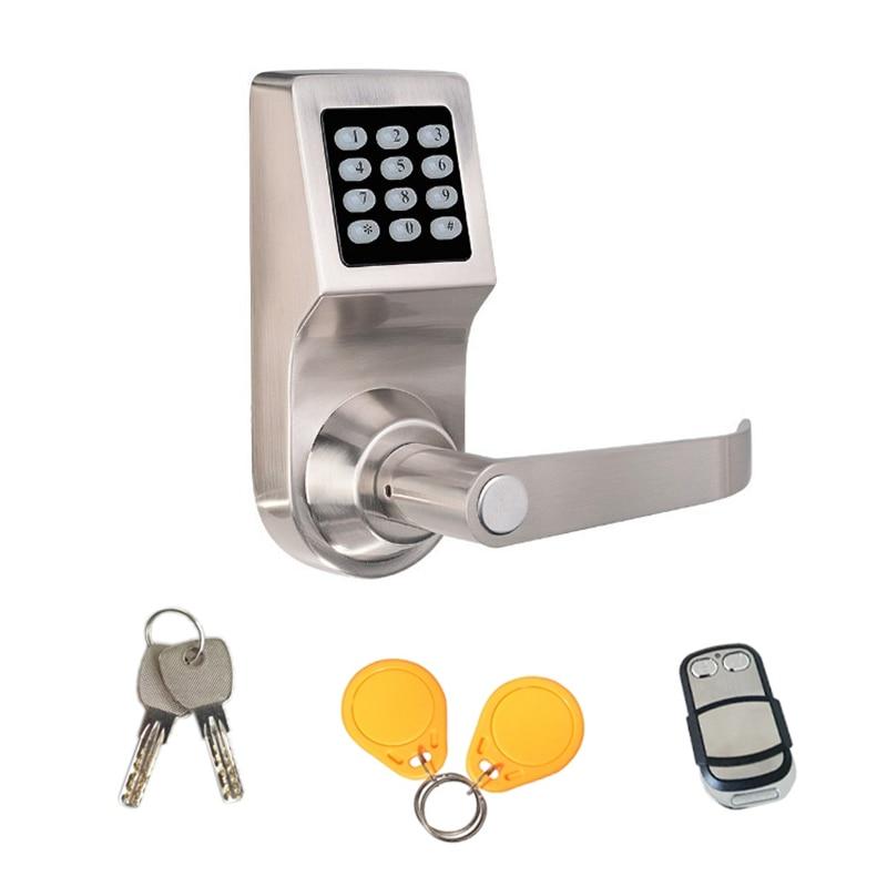 Digital Keypad Door Lock Remote Control + Password+Card+Key Spring Bolt Smart Electronic Lock-in Door Locks from Home Improvement    1