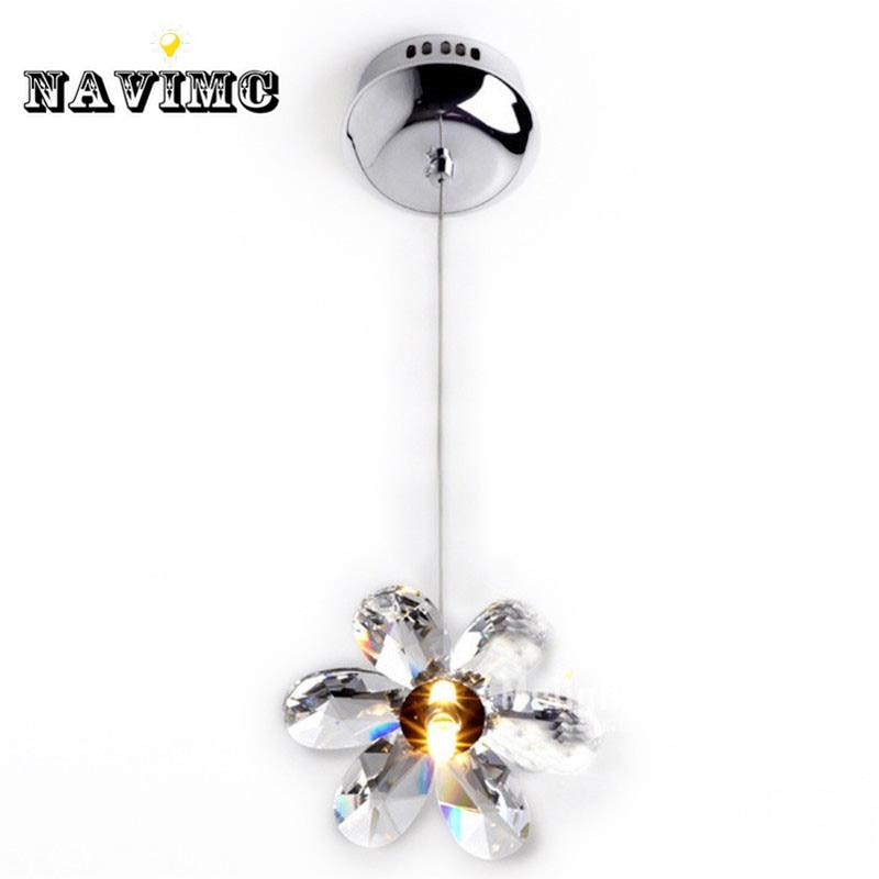 DIY Mini Modern Flower Crystal Pendant Lights Hanging Lamp Crystal Lighting Fixture Droplights For Dining Bedroom Free Shipping
