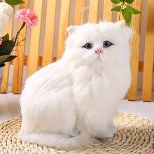Simulation plush cat lifelike crouching animal models handmade realistic persian dolls children toys home decoration