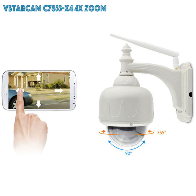 US $99 0 30% OFF|VStarcam Wireless PTZ Dome IP Camera Outdoor 720P HD 4X  Zoom CCTV Security Video Network Surveillance IP Camera Wifi-in  Surveillance