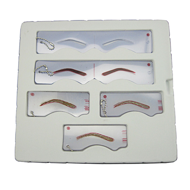 Different eyebrow template Magic Eyebrow Stencil Eye Brow Template Make Up Tool perfect shape Eyebrow design 4