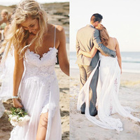 Bridal Dress White Temperament Style Wedding Lace Embroidery Large Size Slim Wedding Dress 2018 New Style Sexy Strap Lace High