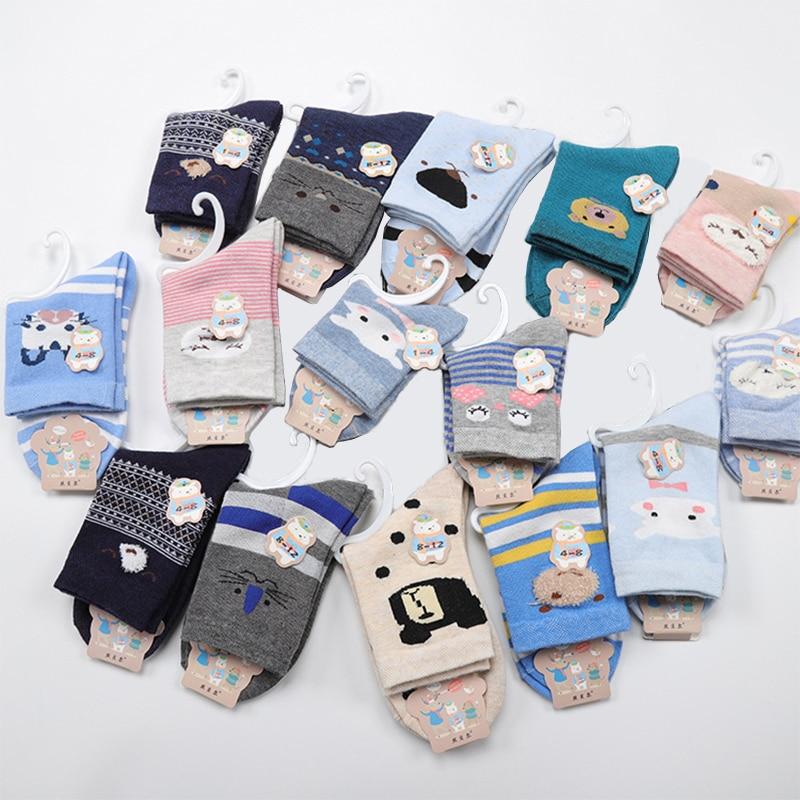 Новые стильные детские носки DAIVSXICAI, 5 пар = 10 шт./Партия Детские хлопковые носки для новорожденных теплые носки для мальчиков и девочек плотн