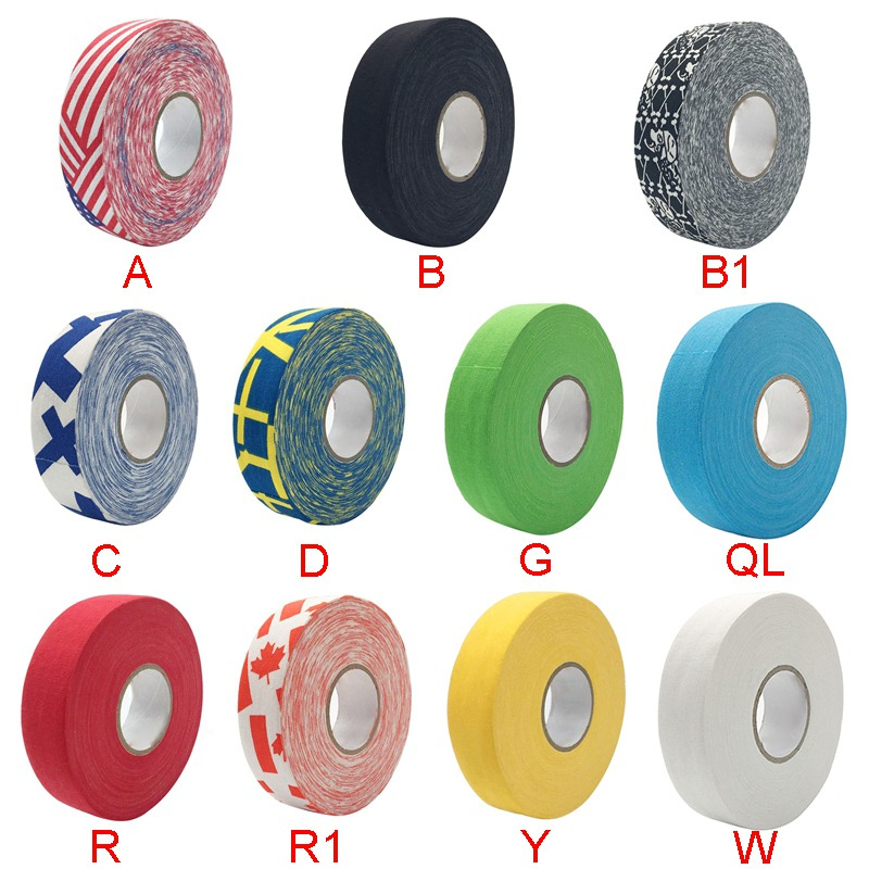 1Pc Cloth Hockey Tape Sport Safety Football Volleyball Basketball Knee Pads Hockey Stick Tape Elbow Golf Tape