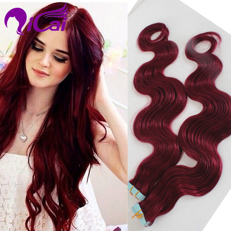 Wholesale burgundy tape hair extensions unprocessed brazilian wholesale burgundy tape hair extensions unprocessed brazilian virgin remy human hair skin weft burg tape human hair extension in skin weft hair extensions pmusecretfo Choice Image