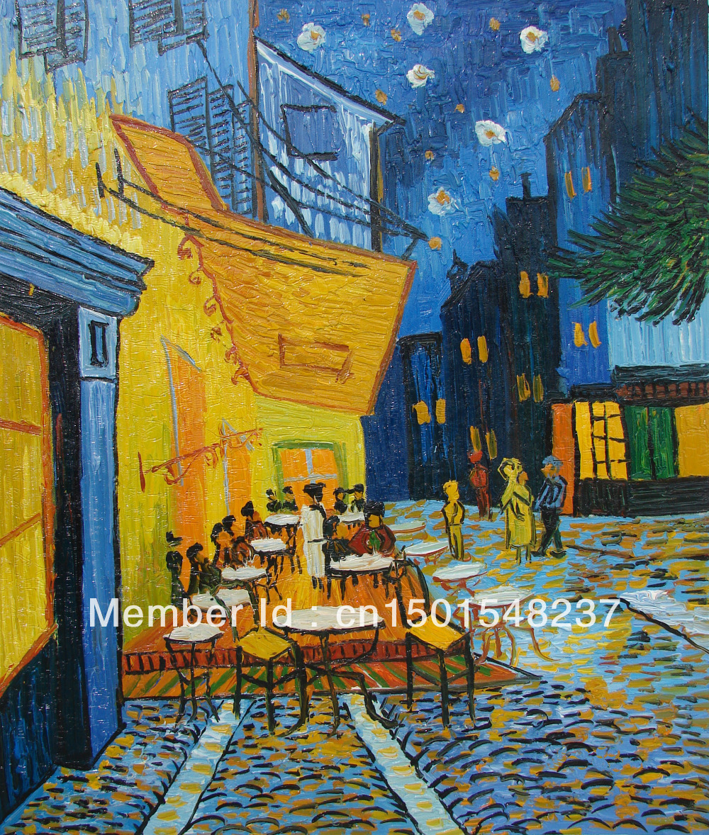 Famous cafe painting - Cafe Terrace At Night Van Gogh Famous Master Reproduction 20 X24 Handmade Oil Painting On Canvas Wall Decor Art Free Shipping In Painting Calligraphy