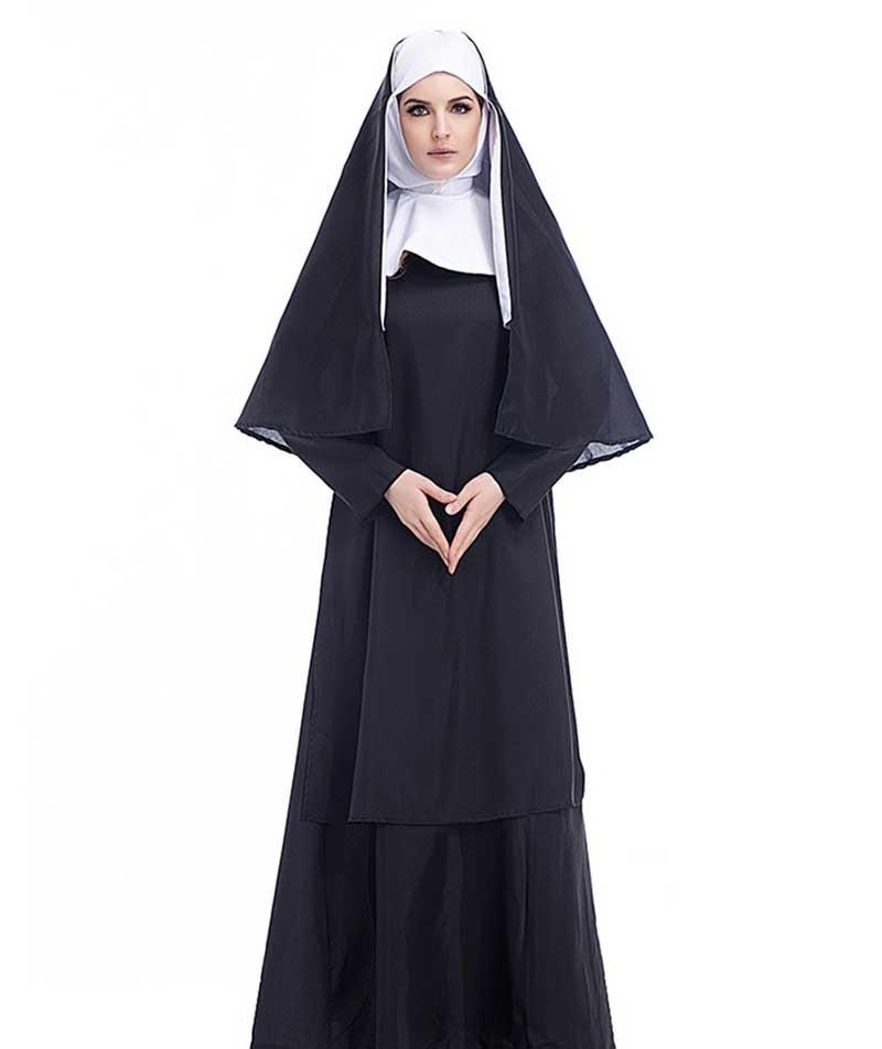 NEW Nun Sister Holy Mother Ladies Fancy Dress Halloween Costume