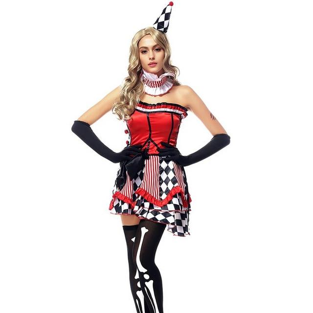 adult harley arkham knight fancy dress cosplay batman dr harley quinn costume clown harlequin joker super - Halloween Costumes Harlequin
