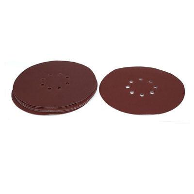9-inch Dia 180 Grits 8 Hole Hook-And-Loop Sanding Disc Polishing Pad 10pcs