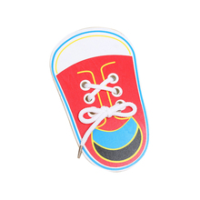 Educational Shoe Shaped Wooden Montessori Toy