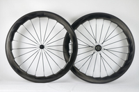 700C carbon Road 454 wave bike wheels 25mm width glossy chinese Carbon fiber bicycle racing wheelset can customized