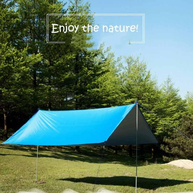 3 m x 3 m plage abri soleil bâche imperméable tente ombre ultra-léger UV auvent de jardin auvent parasol Camping hamac