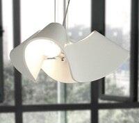Wilma Creative Children Room Nordic White Resin Personality Study Lamp Modern Minimalist Dining Room Pendant Lamp