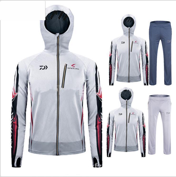 2017 Fishing <font><b>Clothing</b></font> sets Men Breathable UPF 50+ <font><b>UV</b></font> Protection Outdoor Sportswear Suit Fishing Shirt Fishing Pants FS004