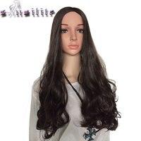 S Noilite 63 5cm Long Curly Women Half Hair Wig Synthetic Hair Vogue Ladies 3 4