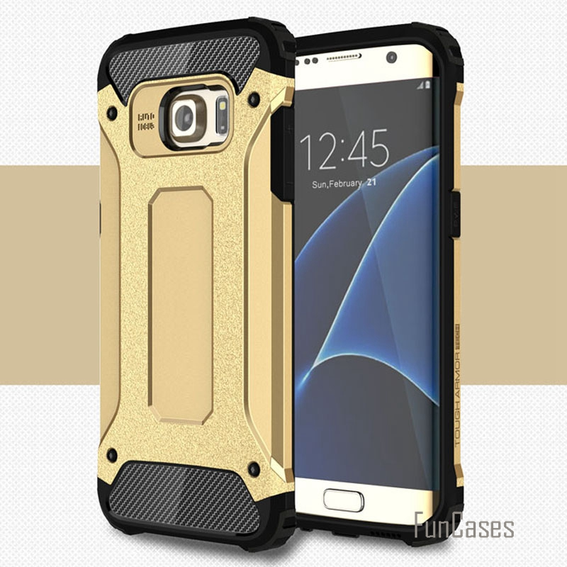 For samsung S7 edge dual layer plastic + tpu armor case for samsung galaxy s7 edge cases G9350 shock proof rubber covers capa >)