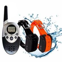Водонепроницаемый ошейник для дрессировки собак с дистанционным управлением перезаряжаемый ошейник для дрессировки собак с вибрационным электрическим током звуковой сигнал