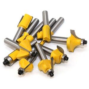 Image 4 - 12 sztuk frez zestaw bitów rozwiertaków 8mm przyrząd do cięcia drewna węglika Shank Mill przycinanie drewna grawerowanie narzędzia do rzeźbienia