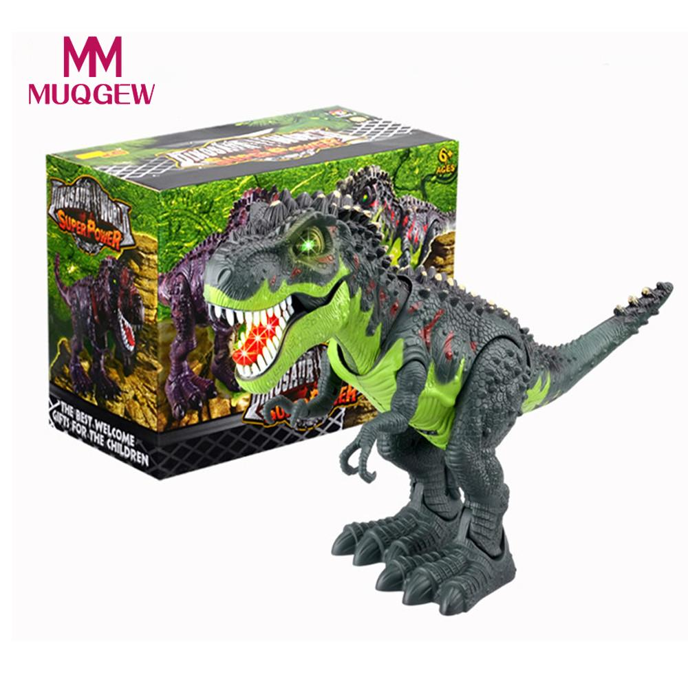 MUQGEW Hot Sale Kids Toy Walking T-Rex Dinosaur Toy Figure With Lights & Sounds Vivid Real Movement Tyrannosaur Educational
