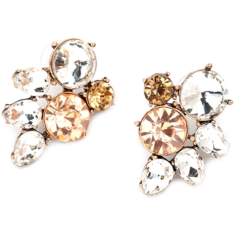 Hot Sale Simple Fashion New Design Simple Crystal Earrings Fashion Women Statement Earring Girl Party Stud Earring