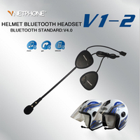 New version V1 2 Bluetooth 4.0 Motorcycle Helmet Intercom Headset BT Wireless Handsfree speakers Earphone
