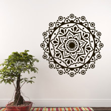 Mandala Yoga Ornament Wall Sticker Vinyl Home Decor Living Room Bohemian Boho Decal Removable Adhesive Transfer Mural MT05