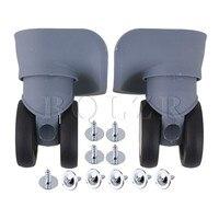 2pcs BQLZR Grey Plastic Luggage Universal Wheels Replacement 10 1x9 6x5 4cm