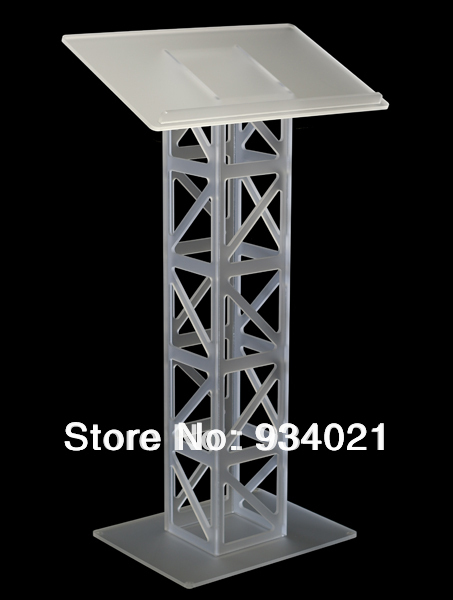 Detachable Frosted Clear Acrylic Dails, Plexiglass Church Pulpit Lectern