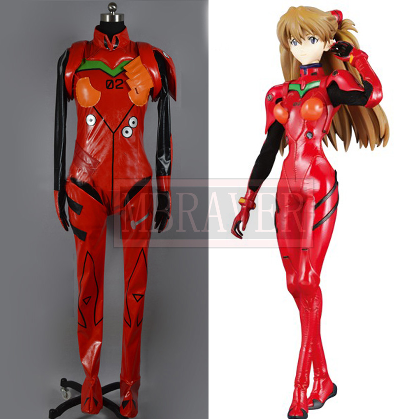 Neon Genesis Evangelion EVA Soryu Asuka Langley Battle suit cosplay Costume full set 21cm japanese original anime figure neon genesis evangelion eva asuka langley soryu action figure collectible model toys