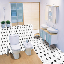 Nordic small flower mosaic brick sticker living room bedroom wallpaper wall kitchen oilproof bathroom waterproof