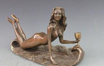 Antique bronze pur cuivre laiton chinois artisanat décor ation asiatique arte escultura esculpida em Bronze belle