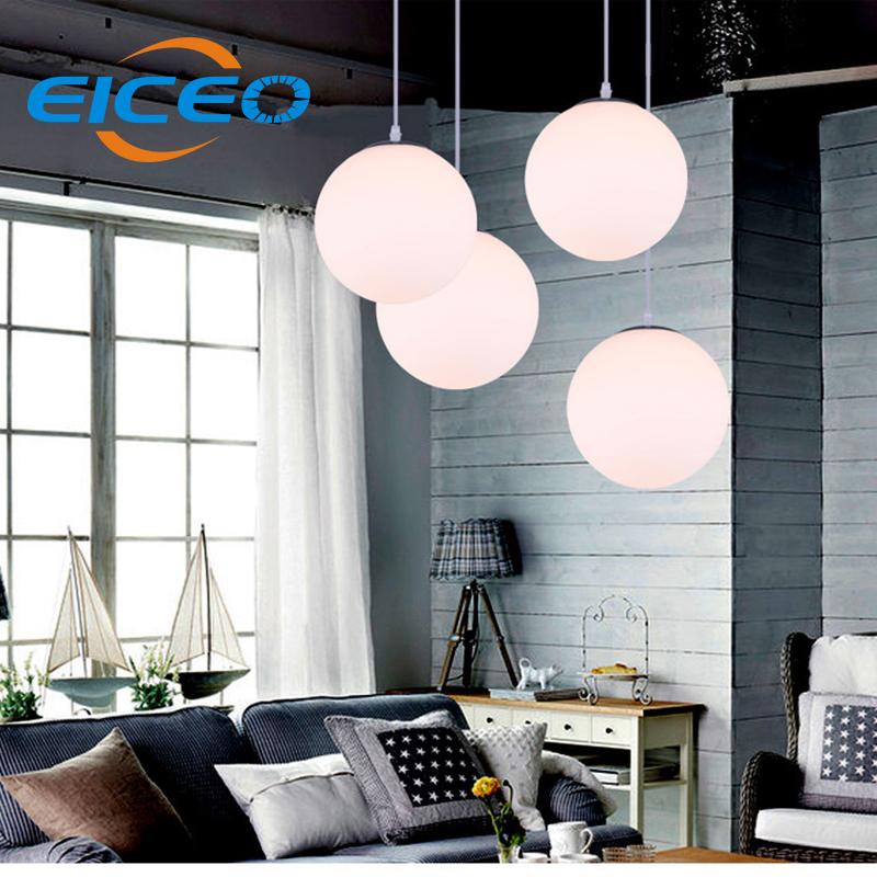 (EICEO) Clothing Store Aisle LED Chandelier Restaurant Chandelier Lighting Bar Cafe Glass Ball Lamps modern pendant led light industrial air bottle glass chandelier creative personality cafe restaurant bar counter clothing store lighting lamps