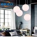 (Eiceo) loja de roupas corredor led iluminação lustre lustre restaurante bar cafe lâmpadas bola de vidro moderno pingente de led de luz