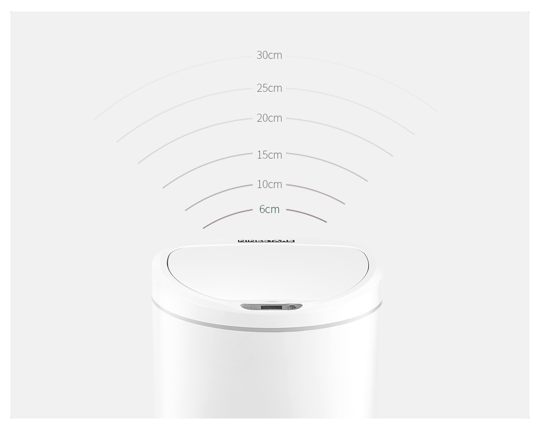 Image 3 - Xiaomi Mijia NINESTARS Intelligent Sensor Trash Can 10L Capacity on key Control Adjustable Sensing Distance Home Trash Bin-in Smart Remote Control from Consumer Electronics