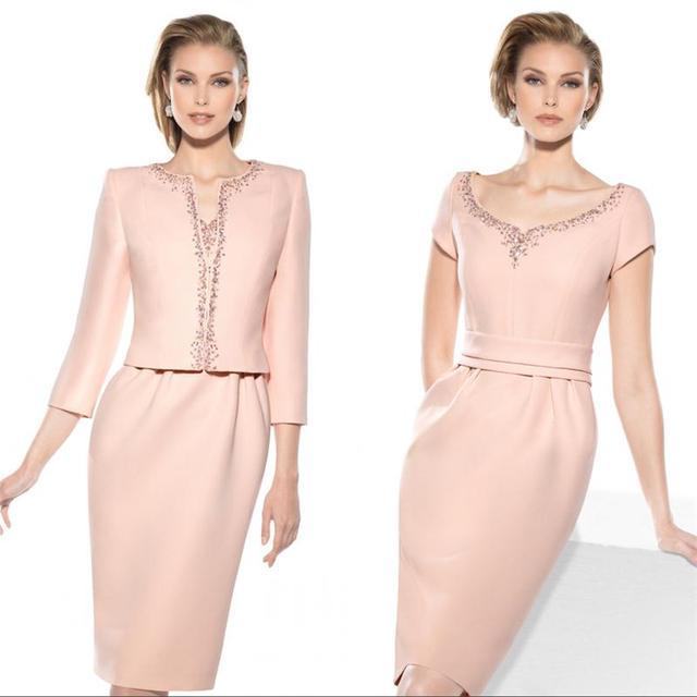 2017 Elegante de Color Rosa Madre de la Novia Vestidos de Novia de ...