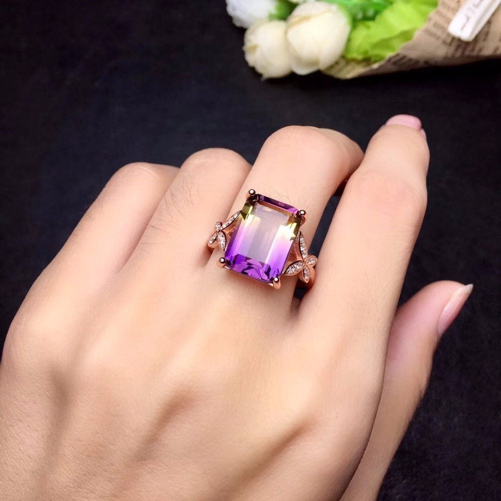 HTB1DBdHbynrK1RjSsziq6xptpXab - Uloveido Exquisite Gemstone Natural Amethyst Lady Ring 925 Sterling Silver
