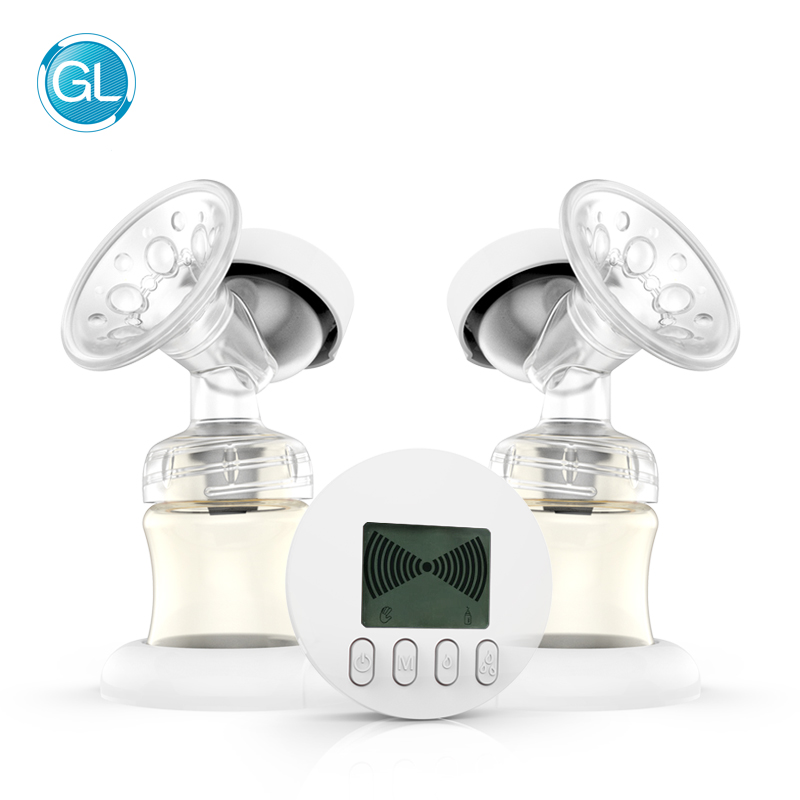 GL Double Electric Breast Pump Automatic Massage/Lactation Mode PPSU USB Charge 9-Shift Suction Adjustment Storage Function