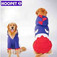 HOOPET модные большая собака теплый костюм пальто с капюшоном Щенок Зимняя Одежда Pet костюм