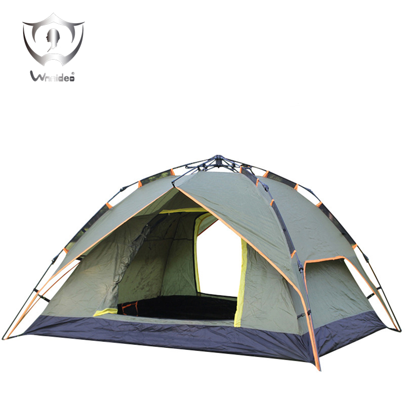 все цены на Wnnideo 3-Way Pop Up Instant Tent with Waterproof Rainfly,for Camping 2-4 Person (2 Adults/ 3-4 Teens or Kids), Army Green