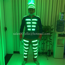 Fashion Colorful Luminous Growing Led Light Men Costume Party Dancing Singer Wear For Club Party Bar Halloween Christmas Clothes