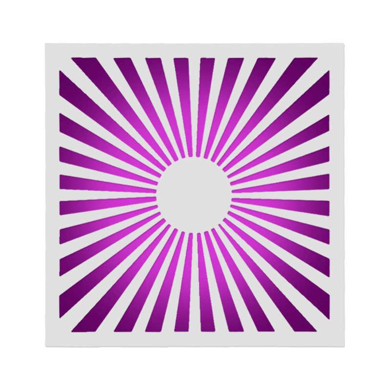 15*15 太陽輝き階層化ステンシル描画色スプレーステンシル Diy のスクラップブックの写真アルバム装飾エンボス DIY カード工芸品