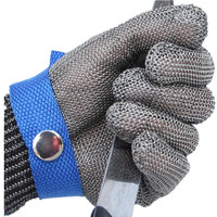 JIAZHOUHU Work Gloves Cut Proof Stab Anti-cutting Protect Wire Safety Gloves Resistant Stainless Steel Metal Mesh Butcher