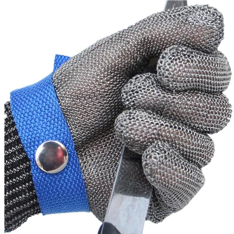 JIAZHOUHU Work <font><b>Gloves</b></font> Cut Proof Stab Anti-cutting Protect Wire Safety <font><b>Gloves</b></font> <font><b>Resistant</b></font> Stainless Steel Metal Mesh Butcher