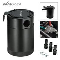 KKMOON Universal Aluminum Baffled 3 Port Oil Catch Can Tank Air Oil Separtor OCC034 Fuel Supply
